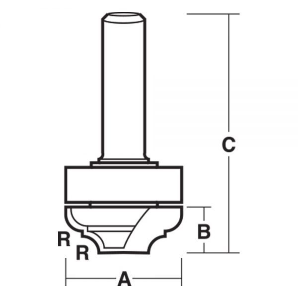 2 Flute – Provincial Bit with Bearing – Carbide Tipped - router bits in sri lanka